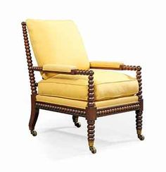 A GEORGE IV ROSEWOOD BOBBIN-TURNED ARMCHAIR CIRCA 1830, POSSIBLY BY GILLOWS