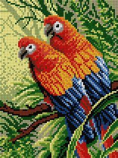 Easy Cross Stitch Patterns, Cross Stitch Bird, Simple Cross Stitch, Cross Stitch Animals, Cross Stitch Charts, Cross Stitch Designs, Cross Stitch Embroidery, Pixel Art, Needlework
