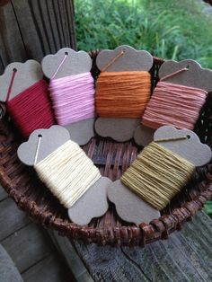 Solid Baker's Twine  6 Color Set  10 Yards Of Each by erkline5898, $15.00