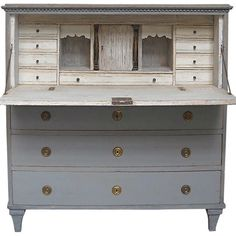 ♕ gorgeous antique Gustavian secretary
