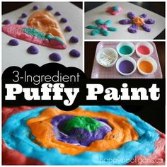 Magically transform it in your microwave: Now for the science!  When you're happy with your masterpiece, pop it into the microwave for 30 seconds and watch your painting puff up!  Your artwork will be warm when you remove it from the microwave, but it will be completely set.