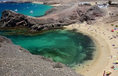 Los Ajaches. Papagayo Beach. Lanzarote island. Spain.