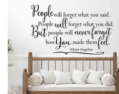Maya Angelou Wall Decal Quote Do Better Vinyl Art Custom   Etsy Vinyl Art, Vinyl Wall Decals, Farmhouse Wall Decals, Family Room Decorating, Family Wall, Quotes By Famous People, Letter Wall, Maya Angelou, Custom Homes