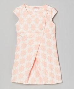 Take a look at this Pink Floral Button Wrap Dress - Toddler & Girls by Paulinie on #zulily today!