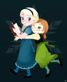 Little Elsa and Anna
