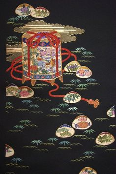 The Beauty of Japanese Embroidery - Embroidery Patterns Chinese Embroidery, Butterfly Embroidery, Learn Embroidery, Embroidery Kits, Japanese Textiles, Japanese Patterns, Japanese Fabric, Japanese Art, Oriental Wallpaper
