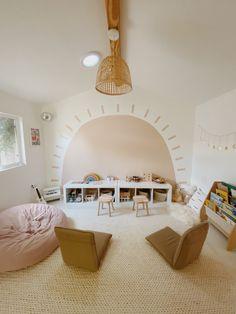 Nursery Room, Kids Bedroom, Bedroom Decor, Playroom Mural, Playroom Design, Modern Playroom, Kid Spaces, Cheap Home Decor, Home Decor Accessories