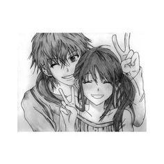 Black and White Anime Couples - Polyvore