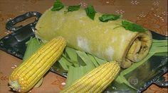 Culinária de Domingo: ROCAMBOLE DE MILHO RECHEADO COM FRANGO É RECEITA COM SABOR DO CAMPO