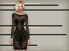 Dress - Anveay 02 (short version) for The Sims 4 by BEO