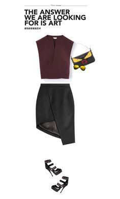 """""""""""One should either be a work or art, or wear a work of art."""" ~Oscar Wilde"""" by modernmoda ❤ liked on Polyvore featuring Thierry Mugler, Fendi and Versace"""