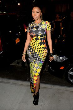 Nicki Minaj Photos: Versus Versace - Arrivals - Mercedes-Benz Fashion Week Spring 2015