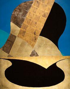 Kenji Yoshida (Japan), La Vie, 1988, (KY1078). Metals and oil on canvas, 150 x 117 cm