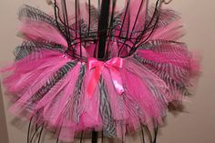 Pink Leopard TuTu by lambiesbands on Etsy, $30.00