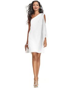 JS Boutique One-Shoulder Jeweled Dress - Dresses - Women - Macy's - Possible vow renewal dress for Jamaica :)