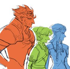 "The Legend of Zelda series / Link, Princess Zelda, and Ganondorf / ""babes cursed by destiny"""