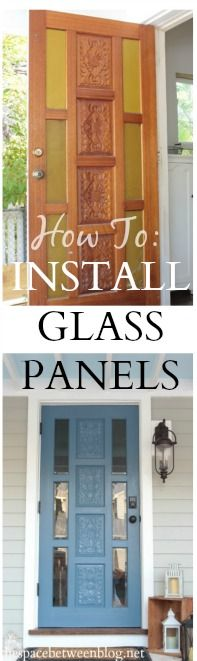 installing glass panels in a door