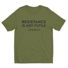 RESISTANCE IS NOT FUTILE - Short sleeve men's t-shirt