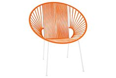Perfect for the front porch Concha Chair, White/Orange on OneKingsLane.com