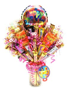 Confetti Happy Birthday Candy Bouquet.