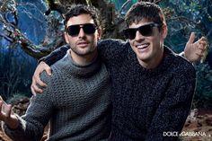 Noah Mills + Evandro Soldati for Dolce & Gabbana Fall/Winter 2014 Eyewear Campaign image Dolce Gabbana Eyewear 2014 Fall Winter Campaign 001