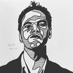 Daily Sketch 3/1/18 #1248 A young Quentin #dailysketch #illustration #people #portrait #director #moviemaker #quentintarantino