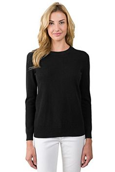 JENNIE LIU Women's 100% Pure Cashmere Long Sleeve Crew Neck Sweater (M, Black)  Special Offer: $107.00  255 Reviews 2016 new collection with new colors!! This luxurious cashmere sweater has a wider neckline and an updated fit, ideal for layering or wearing alone. This stylish...