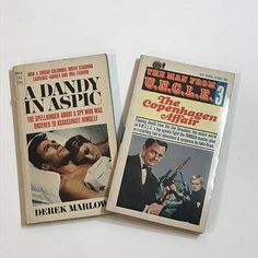 Vintage Spy Paperback Books  set of 2  The Man from