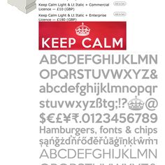 Keep Calm font download - free for personal use @ http://www.k-type.com/?p=2199