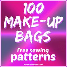 100 cosmetic Bags is featured in Top 5 DIY Craft Projects – Feature Friday Favorite Five #make-up #travel