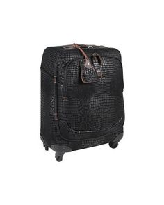 Turn heads with this croc-embossed carry-on bag. Four wheels for easy 3d7c2fa1eabea