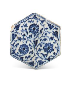 A MAMLUK HEXAGONAL POTTERY TILE | DAMASCUS, SYRIA, CIRCA 1420-50 | 15th Century, All other categories of objects | Christie's