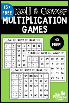 Ready for some NO PREP Multiplication Games? These games are such a simple way to practice those multiplication facts to These games are j Maths Guidés, Multiplication Facts Practice, Math Fact Practice, Math Facts, Teaching Math, Multiplication Strategies, Subtraction Games, Multiplication And Division, Printable Math Games