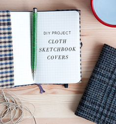 Cover for a pocket size moleskin notebook. Can be adapted for any size of book. Love the tweeds and plaids.