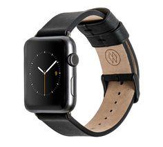 Monowear black leather band - Apple Watch