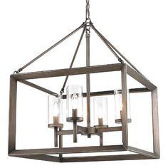 DINING ROOM **FAVORITE** Modern Geometry 4-Light Chandelier