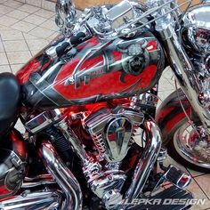Chopper, Cars And Motorcycles, Truck, Bike, Painting, Airbrush, Vehicles, Leather, Decorating