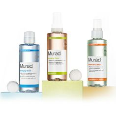 """HYDRATE AND PREPARE SKIN FOR TREATMENT  A skin or face toner can give an added boost to any skin care regimen regardless of skin type or skin concern. Skin toners from Murad hydrate while also preparing freshly cleansed skin for treatment products. Skin toners are also ideal for quick """"skin care fixes"""" when traveling, after sports or the gym or during a busy day. Murad skin toners, as part of an Inclusive Health lifestyle, can get you healthy, glowing skin that's Better EveryDay."""