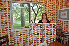de Jong Dream House: Quilt #51: Orla Kiely-inspired baby quilt and onesie