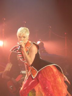 Pink in concert in Glasgow - April 2009.