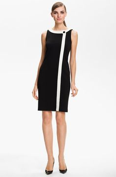 St. John Collection Wrap Front Milano Knit Dress available at #Nordstrom