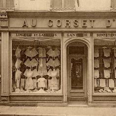 Fantastic Vintage French Corset Store Photo!
