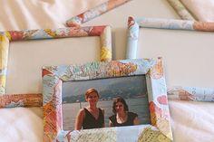 map frames - an idea for babygirl's photos