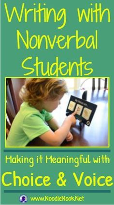 Writing with Nonverbal Students- tips and tricks plus FREE Printable