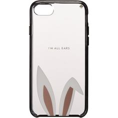 Kate Spade New York I Am All Ears Phone Case for iPhone 7 (Black... (437.215 IDR) ❤ liked on Polyvore featuring accessories, tech accessories, black, cell phone earbuds, earphones earbuds, apple iphone earbuds, kate spade and iphone earbuds