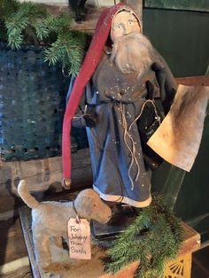 "Primitive Santa ""For Johnny From Santa"" - Arnett's Country Store"