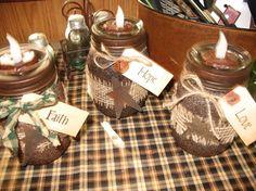 My prim jars with tealights
