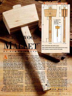 Wooden mallet.