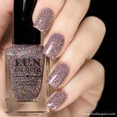 Pretty in pink glitter nail polish to give you that lovely manicure you are…