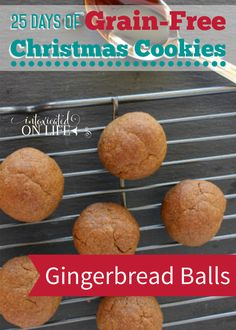 Simple, delicious, grain-free gingerbread balls. What's not to love about this delightful cookie?!